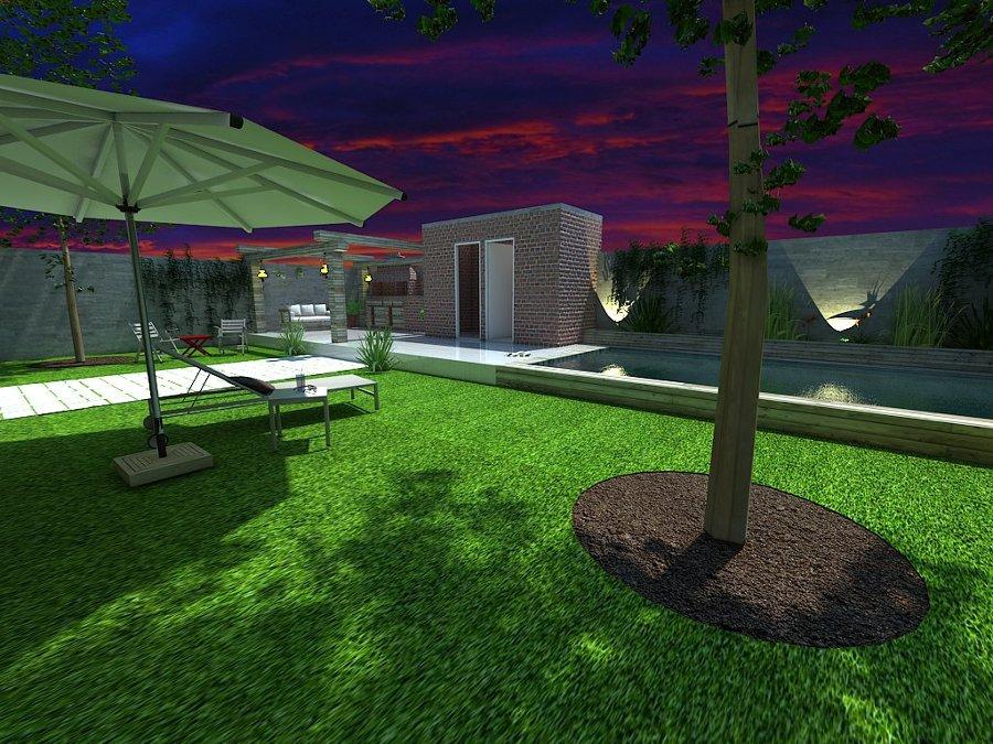 Foto area asador alberca jardin de arq israel rosales for Asador para jardin