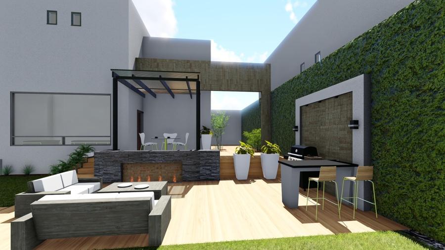 Terraza y asador ideas arquitectos for Barras para exterior jardin