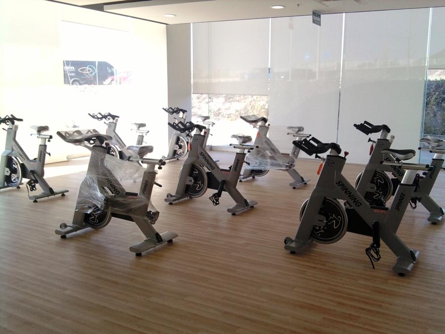 Área de bicicletas en corporativo.