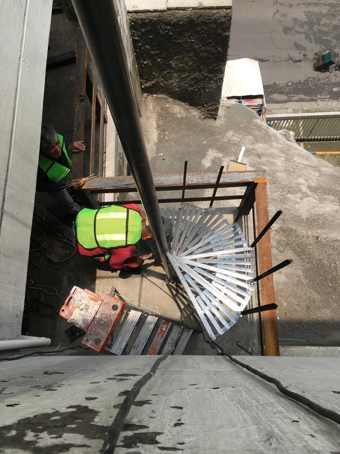 Armado de la escalera en sitio