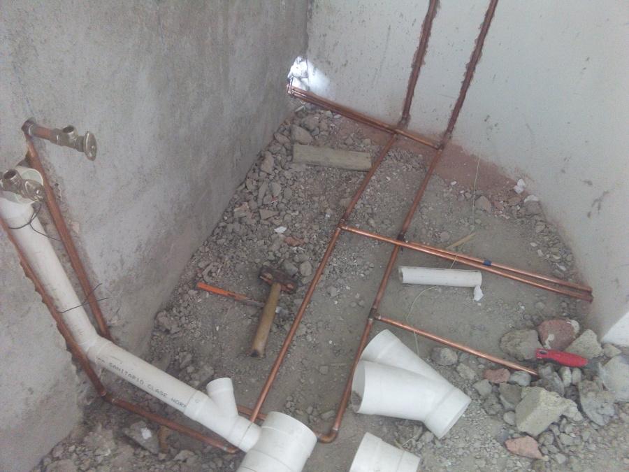 Armado de tubos de cobre