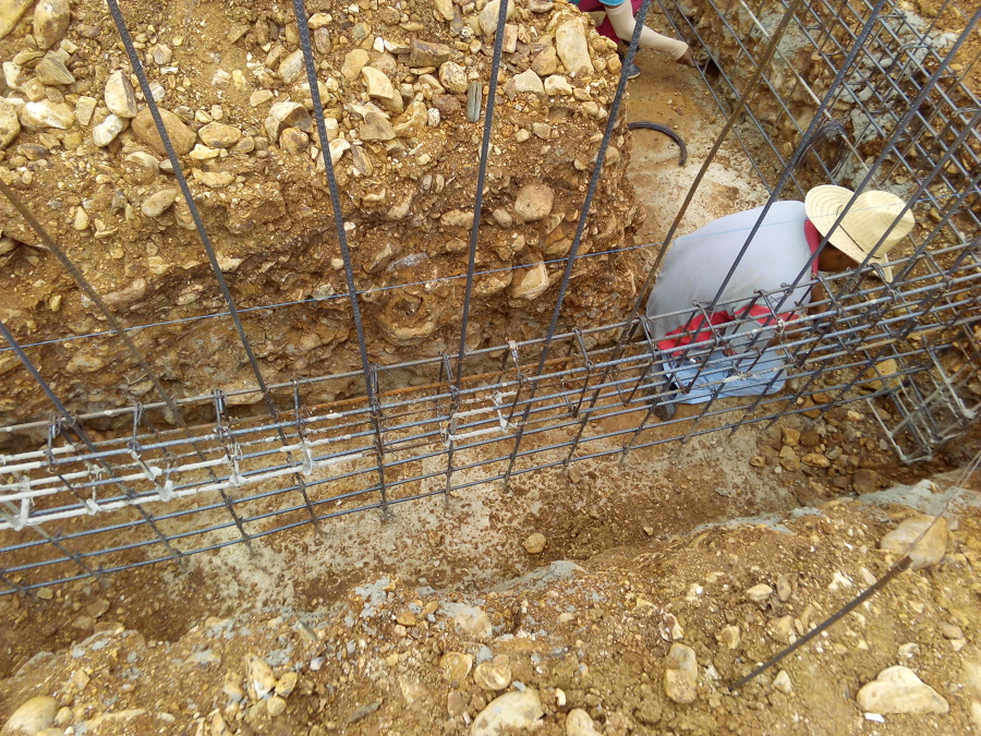 Foto armado para muros de concreto de 15 cm de ancho de for Muro de concreto armado