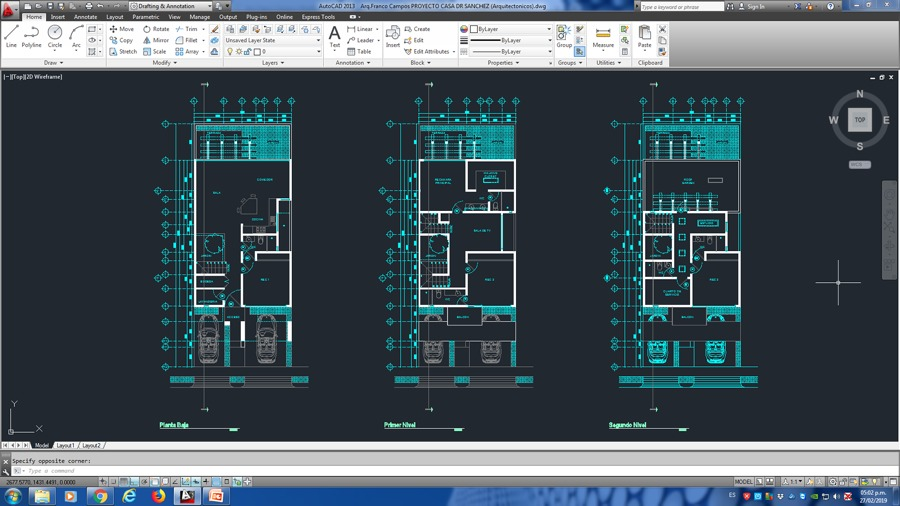 Arquitectónicos Proyecto Casa Dr Sanchez (Residencial AQUA)