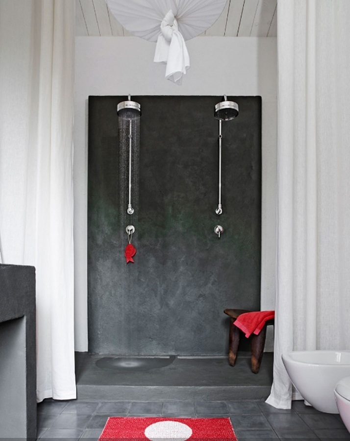 Foto: Baño con Regadera de Cemento Pulido #239990 - Habitissimo