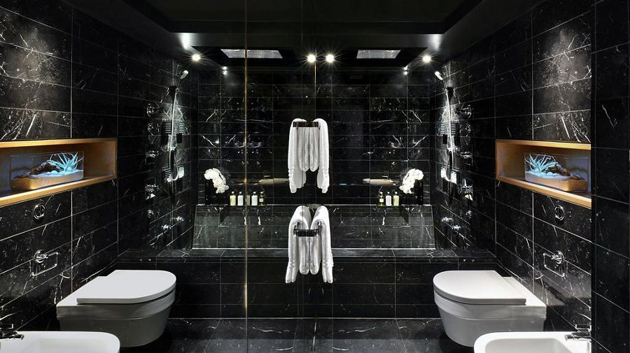 Ba os negros contrastes elegantes ideas remodelaci n ba o - Banos en negro ...