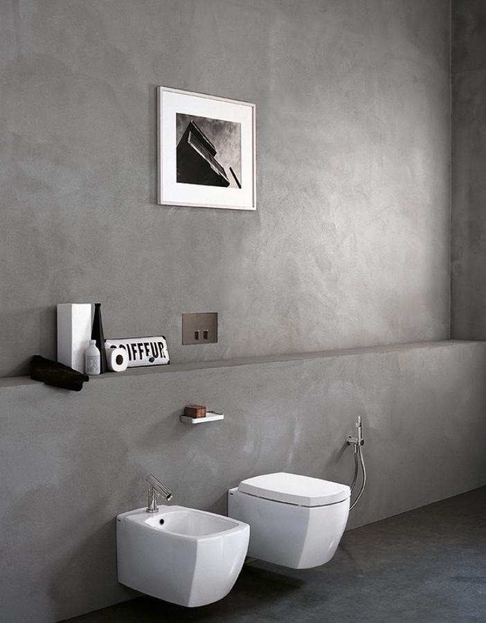 Baño revestido de microcemento