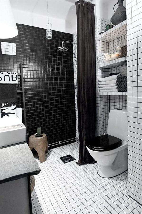 baños negros, contrastes elegantes | ideas remodelación baño