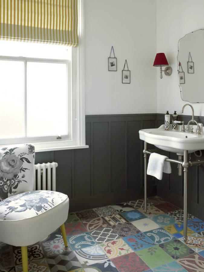Baño con mezcla de estilos