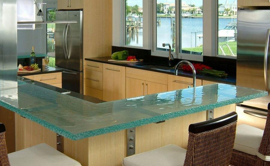 barra de vidrio de cocina
