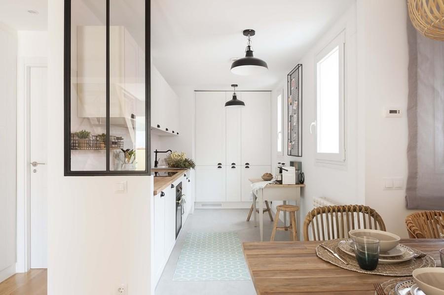 Cocina con muros de tablaroca