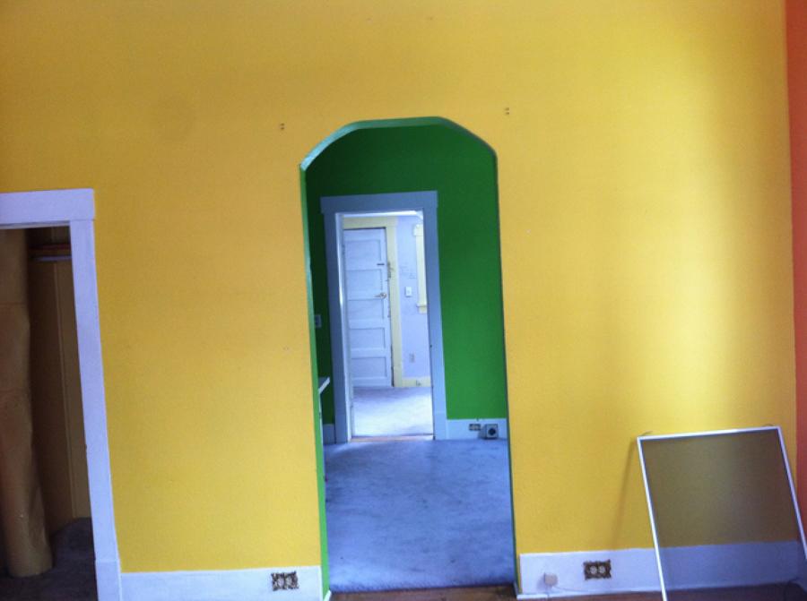 Paredes pintadas antes de la remodelación