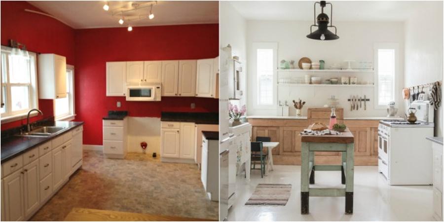 Antes y despu s de una cocina vintage abierta al comedor for Cocinas antes y despues