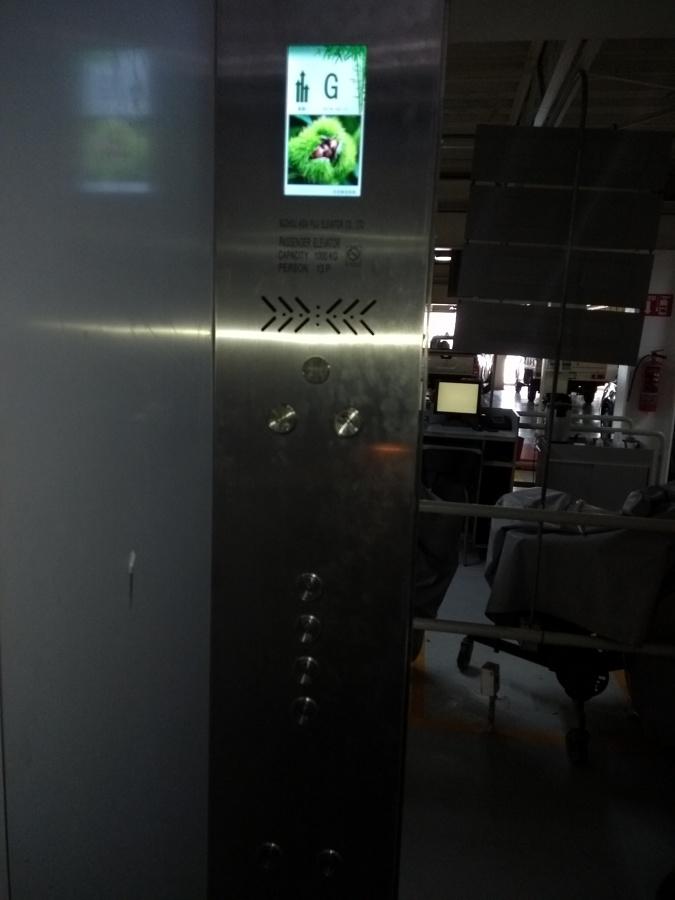 Botonera de cabina con indicador LCD