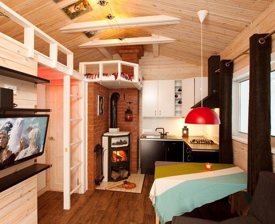 casa de campo para temperaturas bajo cero