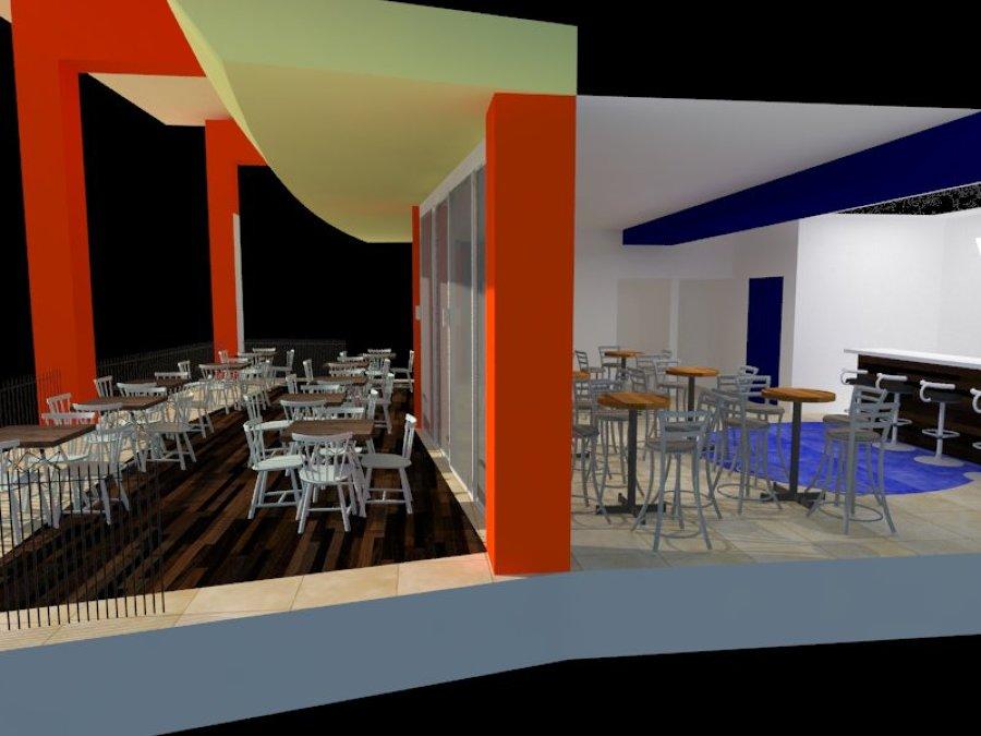 Cafetería SEDENA (perspectiva en corte)
