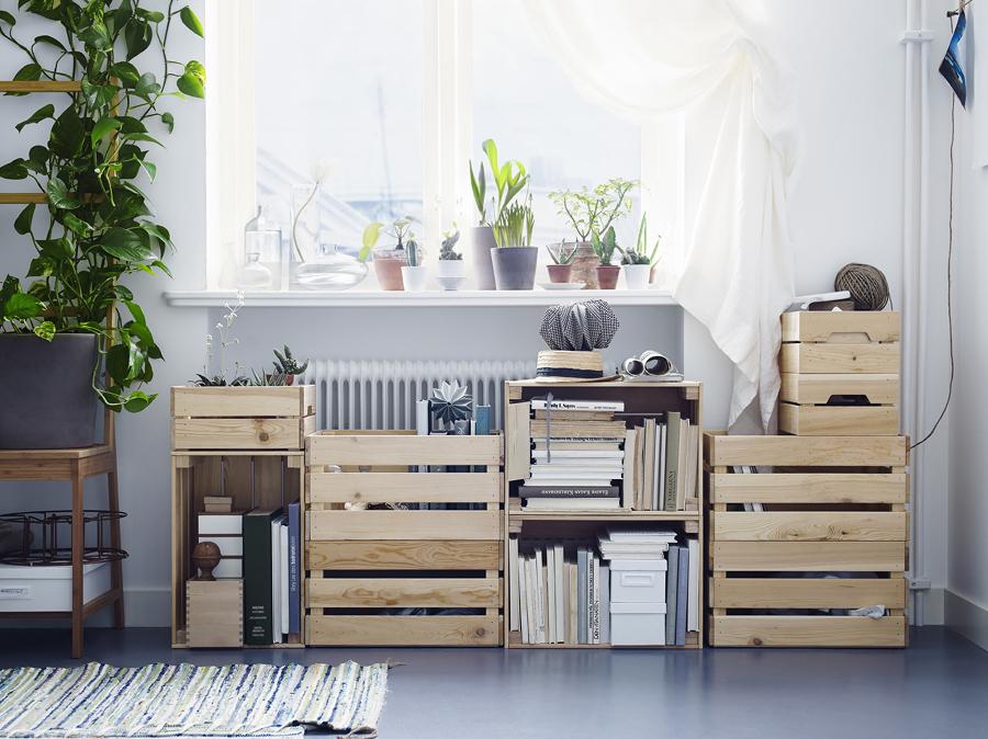 cajas de madera para mudanza