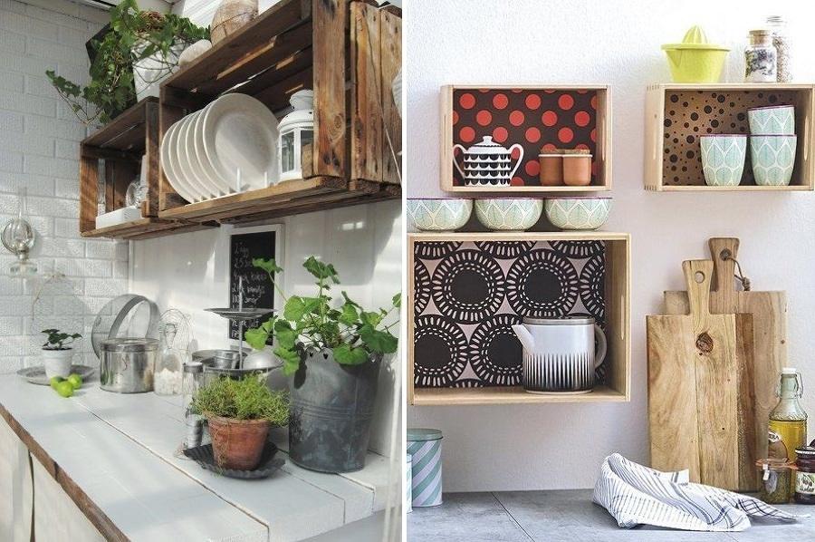 Foto cajas de madera para la cocina 157696 habitissimo for Ideas para decorar la casa reciclando