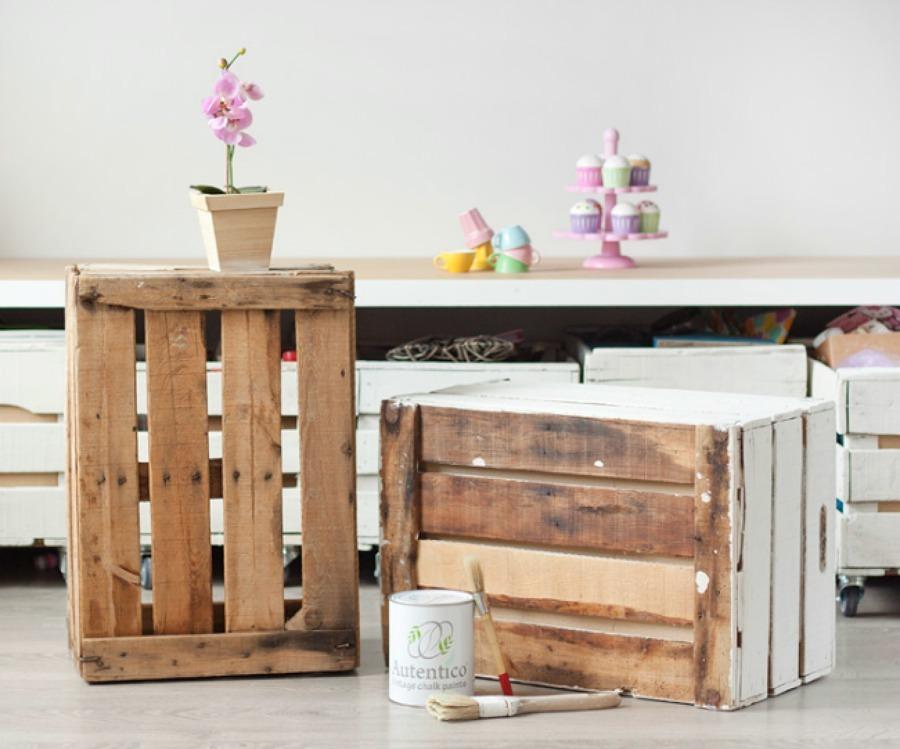 Foto caja de madera para decorar 139247 habitissimo for Cajas de madera ikea