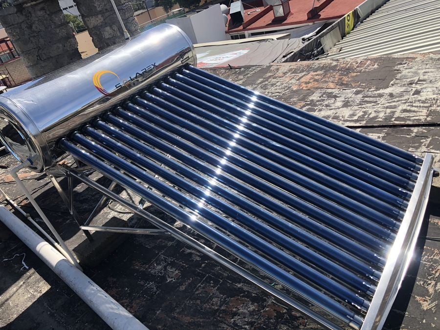 Calentador solar/ costado