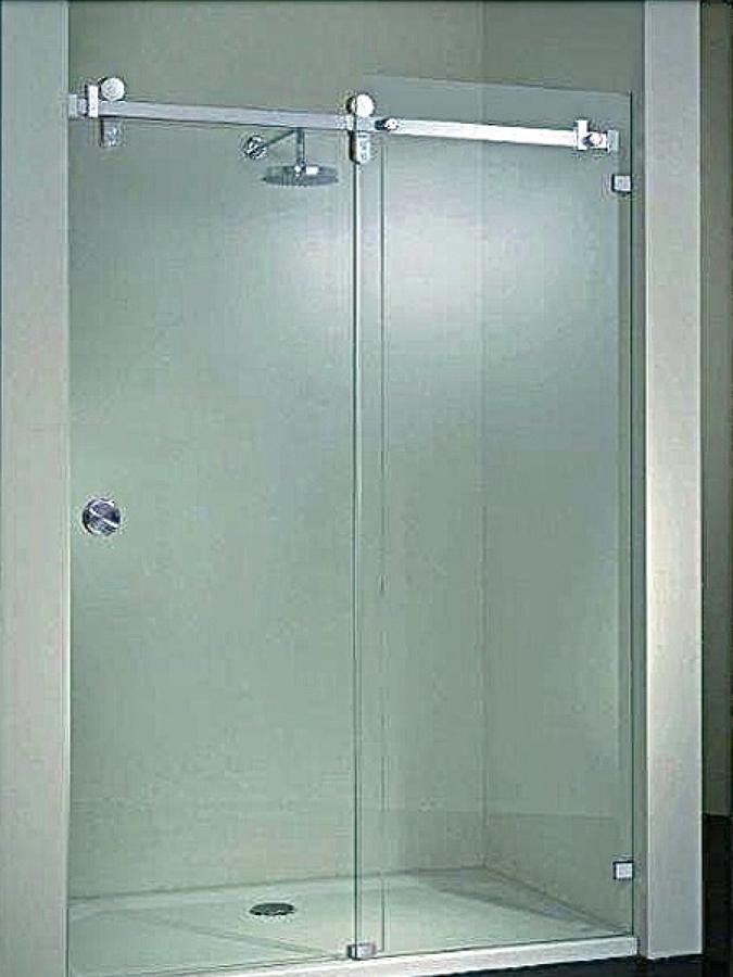 Puertas De Baño En Cristal Templado:Foto: Cancel de Baño en Cristal Templado Corredizo de Aluminios
