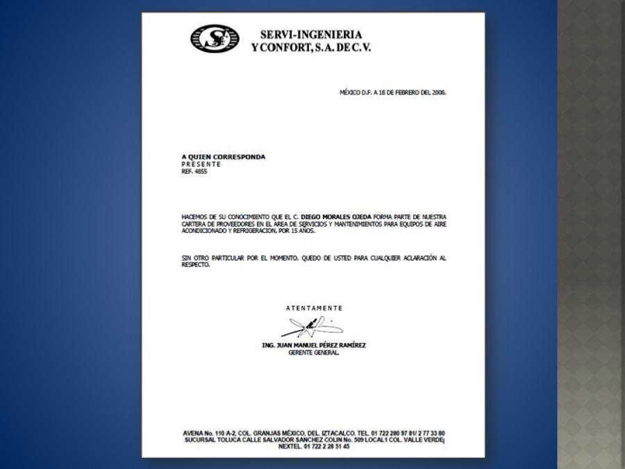 cartas de recomendacion laborales