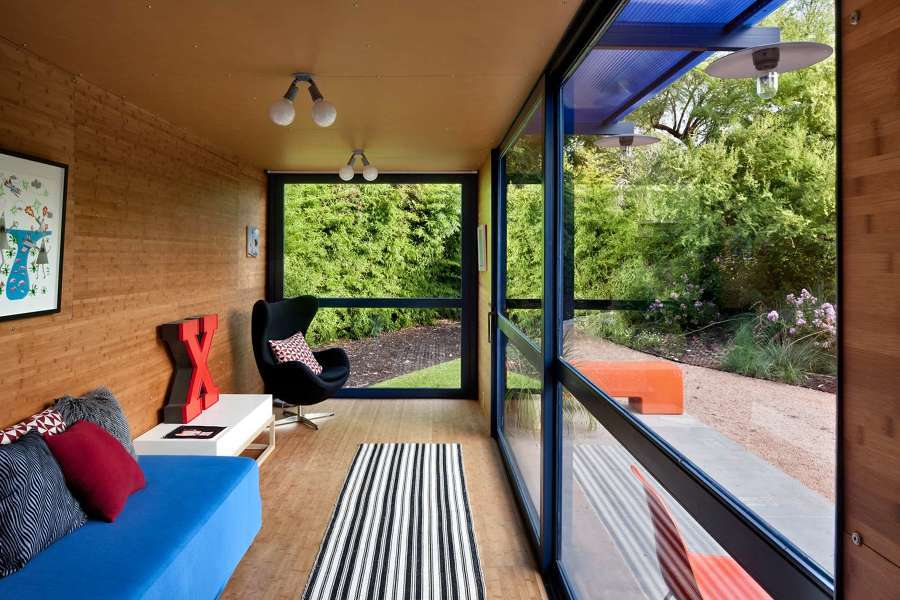 Interior casa contenedor Guest House