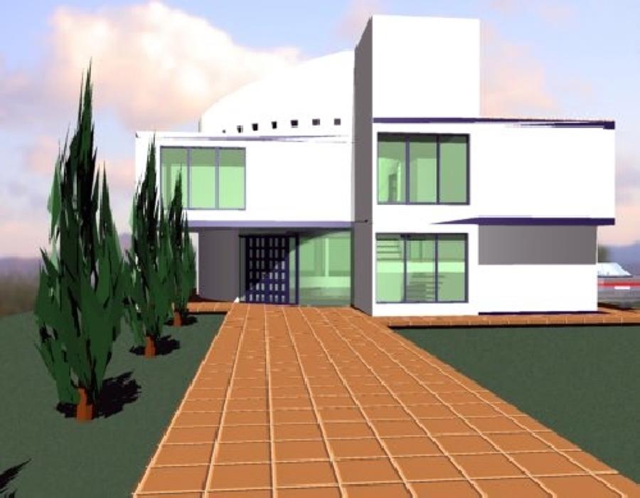 Foto casa habitaci n actopan de alta tecnolog a for Proyecto casa habitacion minimalista