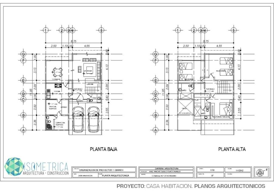 Casa de habitaci n ideas arquitectos - Proyectos para construir una casa ...