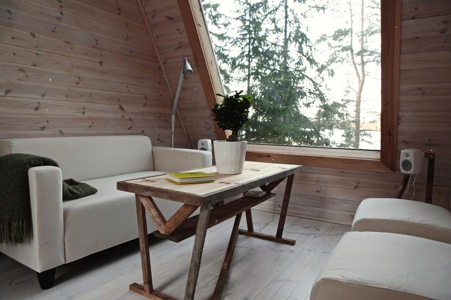 cabaña de madera de 9 metros
