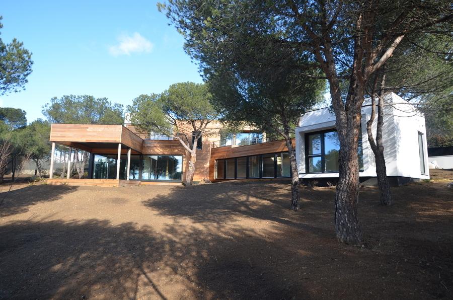 Exteriores casa pasiva de madera