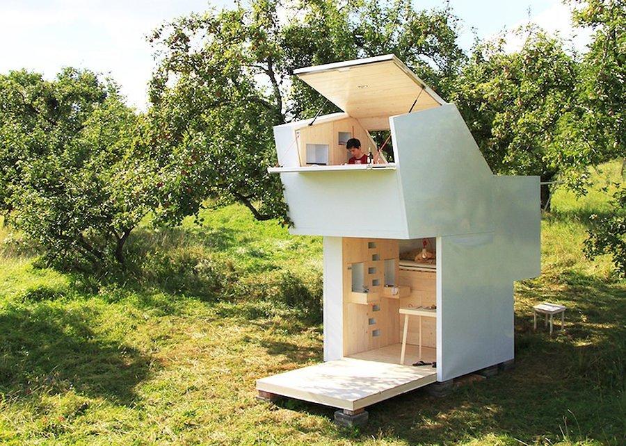 casa pequeña en el monte