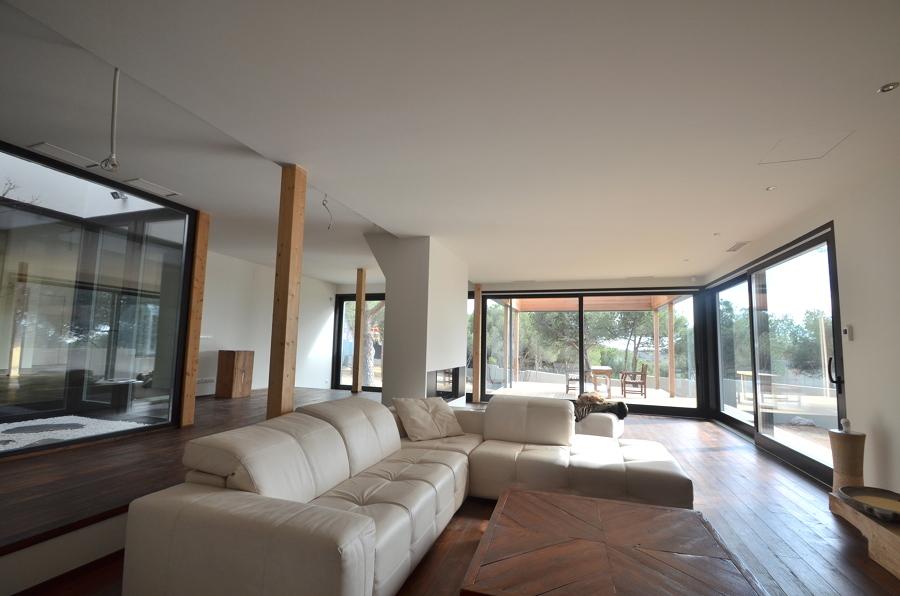 Sala decorada casa pasiva