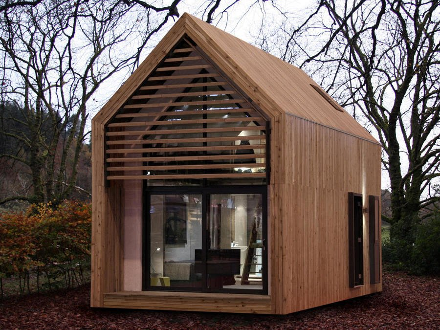 Casa prefabricada de madera pequeña