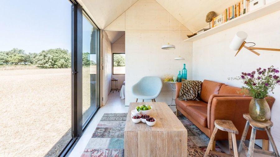 Interior casa Ábaton prefabricada