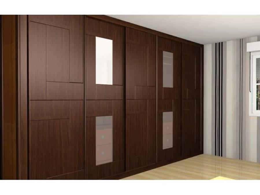 Foto closet con vitrales viselados de muebles finos for Modelos de closets para dormitorios modernos