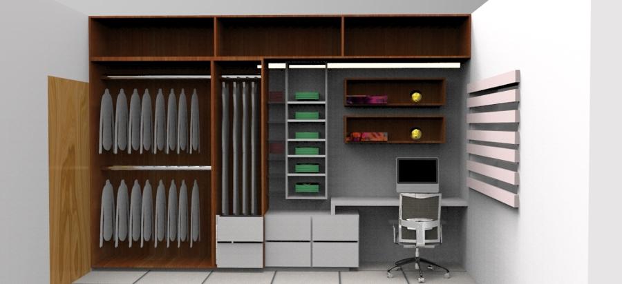 Foto closet mas escritorio de ambiart home furniture for Closet con espacio para tv