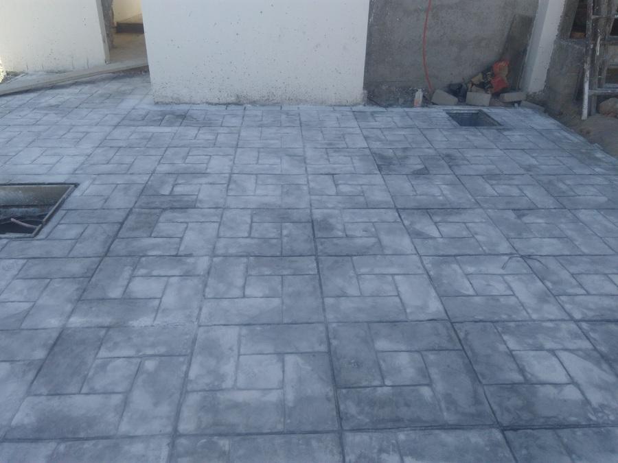 Foto cochera concreto estampado de proveedor de Cemento estampado fotos