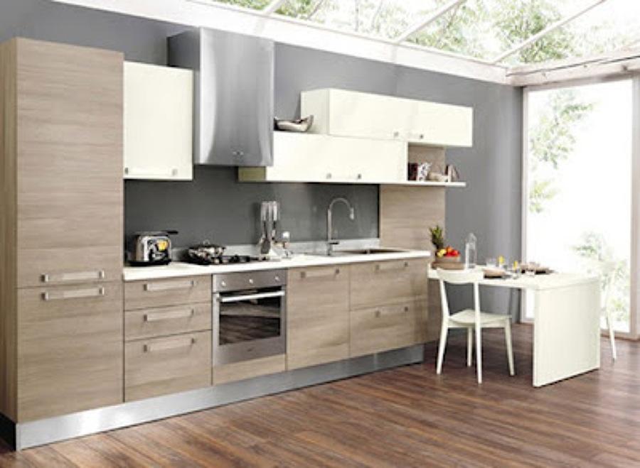 Foto cocina blanca lineal de ebanisteria carpinteria y for Cocinas integrales lineales