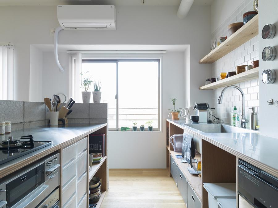 Cocina con aire acondicionado