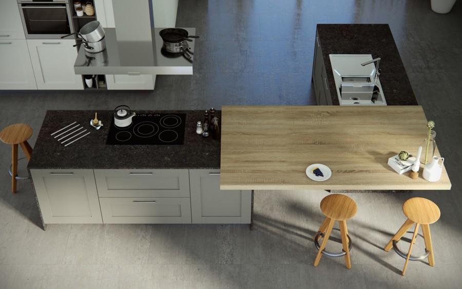 Cocina con diseño HPL