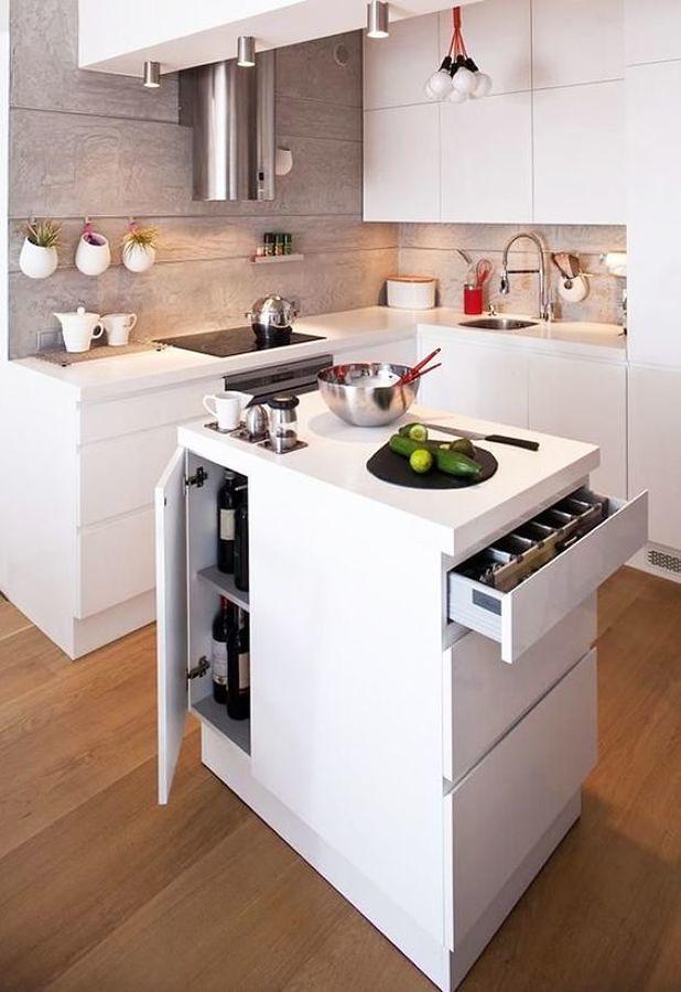 Foto cocina blanca con isla integrada 221054 habitissimo for Cocinas blancas con isla