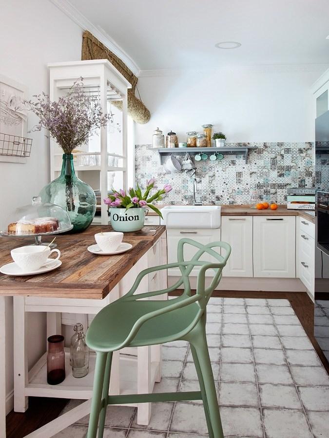 cocina estilo vintage