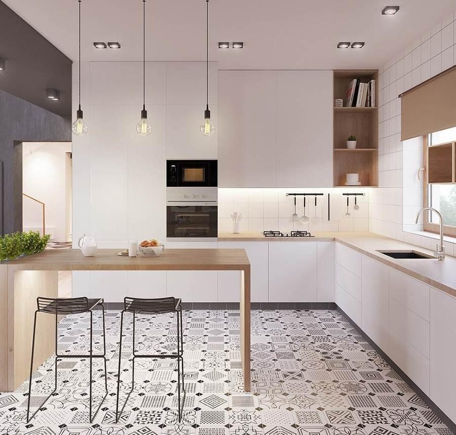 Foto cocina moderna con desayunador 231203 habitissimo - Recouvrir meuble cuisine adhesif ...