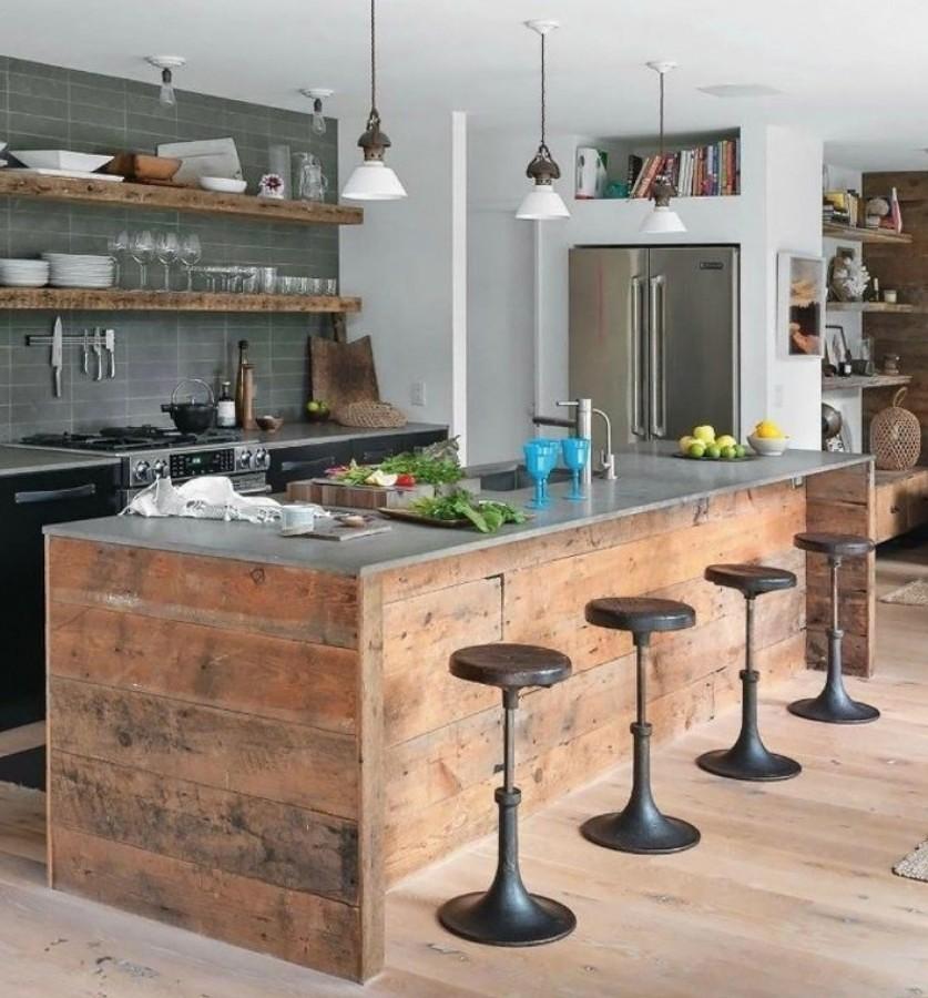 Excepcional Cocina Rústica País Viñeta - Ideas de Decoración de ...