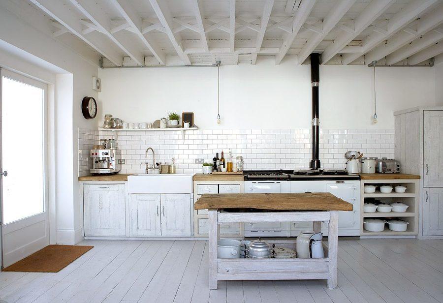cocina vintage de madera