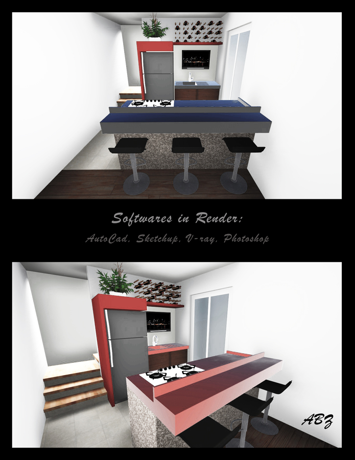 Foto cocinas en espacios peque os de abz arquitectura for Cocinas en espacios pequenos