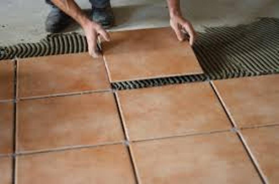 Foto colocaci n de losetas de alba ileria services - Revestimientos ceramicos ...