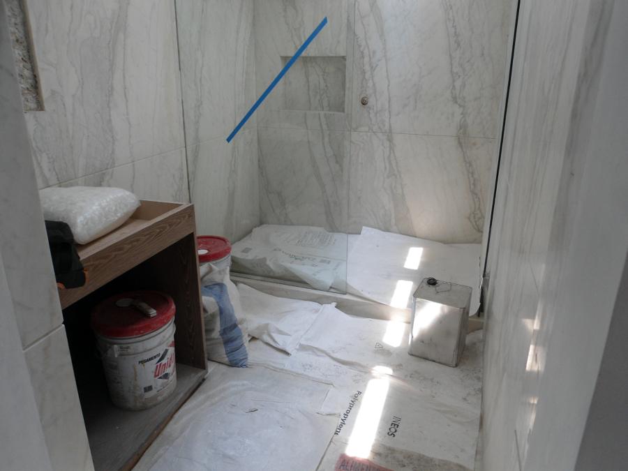 Colocación de marmol.