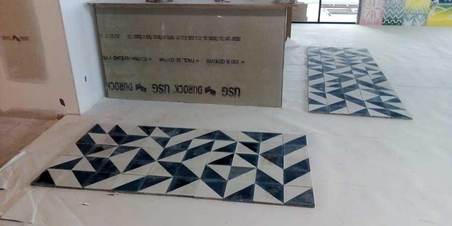 Colocación de mosaico