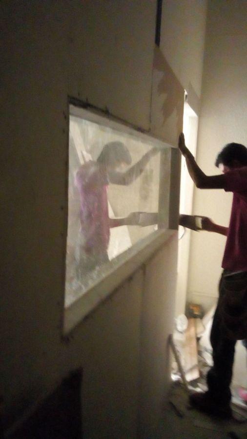 Colocación de vidrio blindado